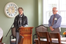 Hon. Valerie Doherty, Minister of Community Services and Seniors, welcomes Burnside.