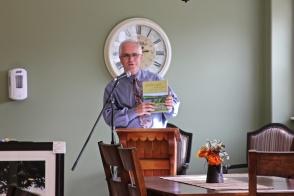 Vivian Beer offers a copy of her book Landscape of Memories.