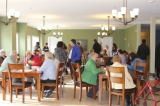 After a tour of rooms, visitors sat in dining room for tea and fresh-baked treats.