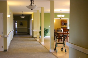 Front hall & entrance to dining room