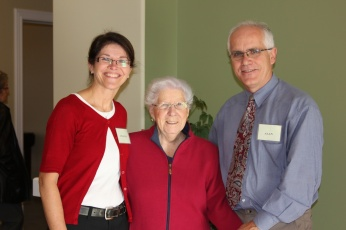 Alan and Myrtle welcomed friend Hilda Beer to the Open House