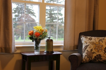 The rooms overlook the beautiful countryside of Clyde River.