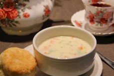 Chowder and biscuits